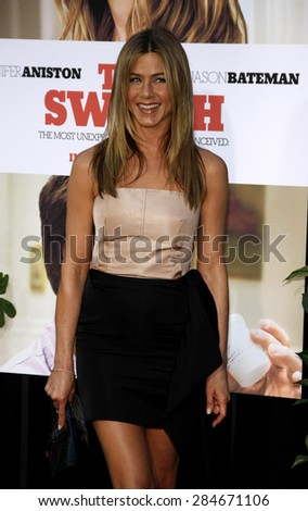 Jennifer Aniston at the Los Angeles premiere of 'The Switch' held at the ArcLight Cinemas in Hollywood on August 16, 2010.  - stock photo