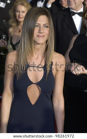JENNIFER ANISTON at the 9th Annual SCREEN ACTORS GUILD AWARDS in Los Angeles. March 9, 2003  Paul Smith / Featureflash - stock photo