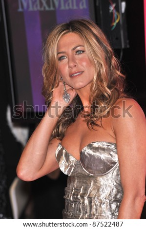 Jennifer Aniston at the Women in Film 2009 Crystal + Lucy Awards at the Hyatt Regency Century Plaza Hotel, Century City, Los Angeles. June 12, 2009  Los Angeles, CA Picture: Paul Smith / Featureflash - stock photo