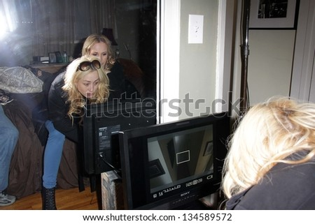 "Jennifer Blanc-Biehn on the set of ""The Night Visitor"" directed by Jennifer Blanc-Biehn, Private Location, Los Angeles, CA 04-06-13"