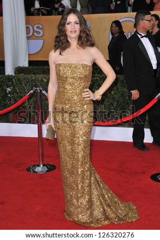 Jennifer Garner at the 19th Annual Screen Actors Guild Awards at the Shrine Auditorium, Los Angeles. January 27, 2013  Los Angeles, CA Picture: Paul Smith - stock photo