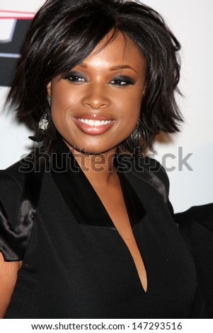 Jennifer Hudson arriving at the Pre-Grammy Party honoring Clive Davis at the Beverly Hilton Hotel in Beverly Hills, CA on  February 7, 2009