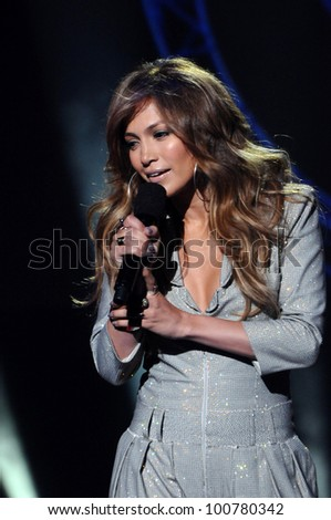 "Jennifer Lopez at the ""American Idol"" Season 10 Judges Announcement, Forum, Inglewood, CA. 09-22-10 - stock photo"