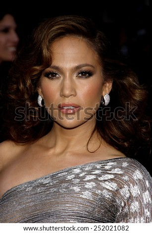 """Jennifer Lopez at the Los Angeles Premiere of """"The Back-Up Plan"""" held at the Westwood Village Theater in Westwood, California, United States on April 21, 2010.  - stock photo"""