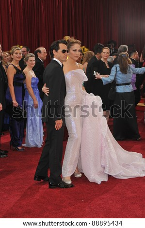 Jennifer Lopez & Marc Anthony at the 82nd Annual Academy Awards at the Kodak Theatre, Hollywood. March 7, 2010  Los Angeles, CA Picture: Paul Smith / Featureflash - stock photo