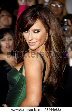 Jennifer Love Hewitt at the Los Angeles premiere of 'The Twilight Saga: Breaking Dawn Part 1' held at the Nokia Theatre L.A. Live in Los Angeles on November 14, 2011.  - stock photo