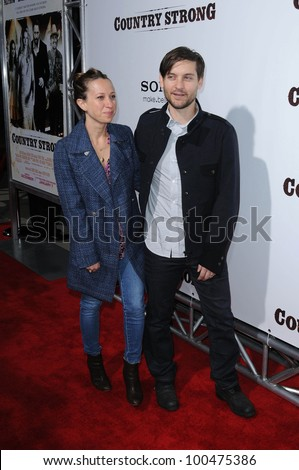 "Jennifer Meyer and Tobey Maguire at the ""Country Strong"" Los Angeles Special Screening, Academy of Motion Picture Arts and Sciences, Beverly Hills, CA. 12-14-10"