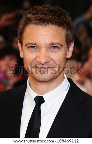 "Jeremy Renner arrives for the ""Avengers Assemble"" premiere at the Vue cinema Westfield, London. 19/04/2012 Picture by: Steve Vas / Featureflash - stock photo"