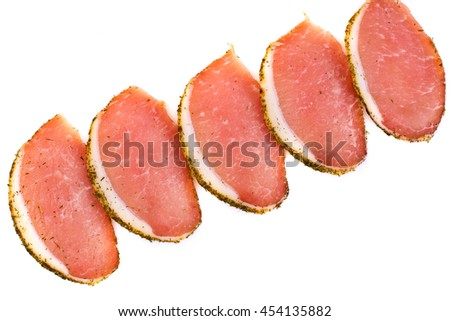 Jerked meat Isolated on White Background