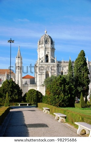 Jeronimos Monastery in Lisbon (Portugal)