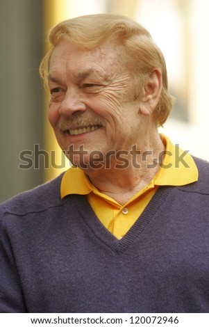 Jerry Buss  at the Ceremony Honoring Los Angeles Lakers Owner Jerry Buss with the 2,323rd star on the Hollywood Walk of Fame. Hollywood Boulevard, Hollywood, CA. 10-30-06 - stock photo