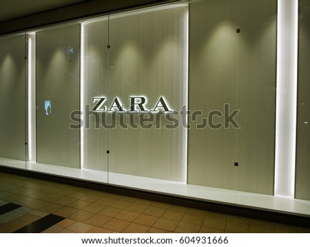 Jersey City, New Jersey - March 18 2017, Zara store front