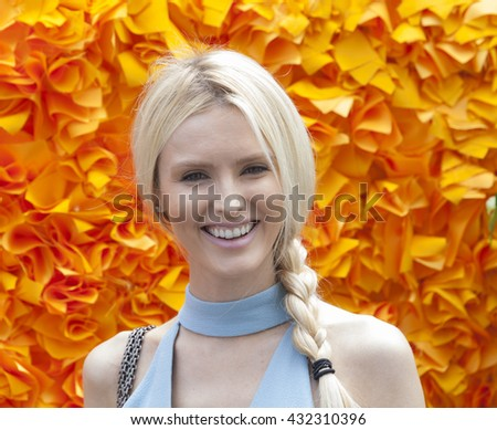 Jersey City, NJ USA - June 4, 2016: Kate Davidson Hudson attends 9th annual Veuve Clicquot Polo Classic at Liberty State Park