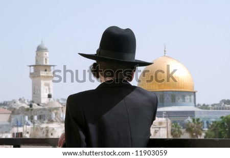 Jerusalem, a city of three religions. - stock photo