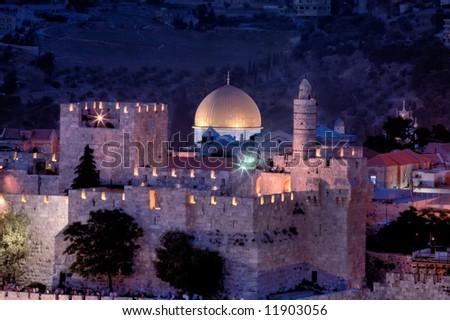 Jerusalem city of three religions. - stock photo