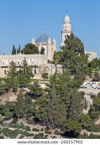 Jerusalem - Dormition abbey church. - stock photo