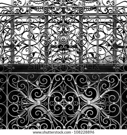 Jerusalem forged  lattice background - stock photo