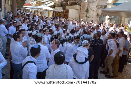 Jerusalem israel 23 10 16 jewish stock photo 540541936 shutterstock jerusalem israel 26 10 16 jewish man celebrate simchat torah simchat torah is a sciox Image collections