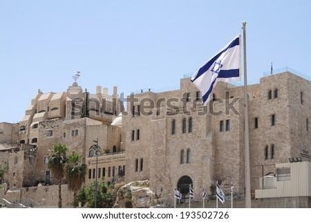jerusalem israel state capital city multireligious - stock photo