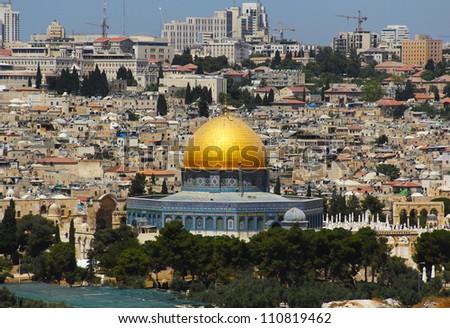 Jerusalem, the main mosque - stock photo