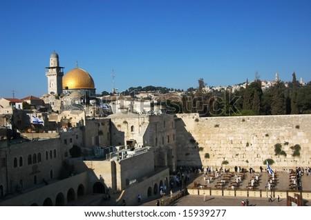 Jerusalem - Wailing Wall - stock photo