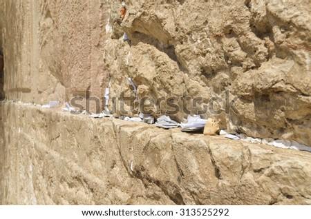 Jerusalem - Western Wall - stock photo