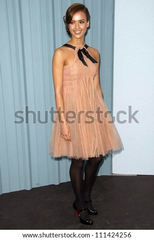 Jessica Alba  at the 2007/2008 Chanel Cruise Show Presented by Karl Lagerfeld. Hanger 8, Santa Monica, CA. 05-18-07 - stock photo