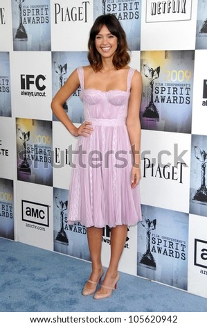 Jessica Alba at the 2009 Film Independent's Spirit Awards. Santa Monica Pier, Santa Monica, CA. 02-21-09 - stock photo