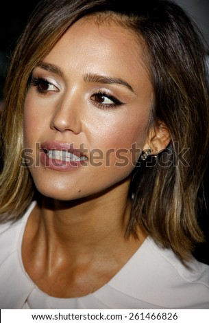 Jessica Alba at the Independent School Alliance For Minority Affairs Impact Awards Dinner held at the Four Seasons Hotel Los Angeles at Beverly Hills in Los Angeles, USA on March 18 2015. - stock photo