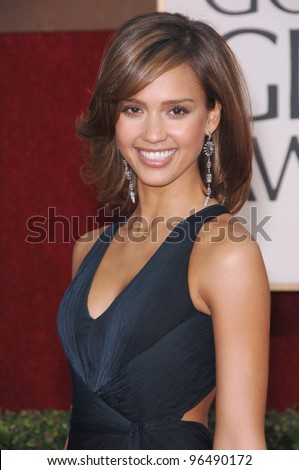 JESSICA ALBA at the 63rd Annual Golden Globe Awards at the Beverly Hilton Hotel. January 16, 2006  Beverly Hills, CA  2006 Paul Smith / Featureflash - stock photo
