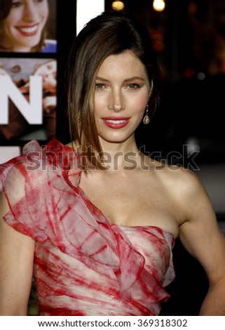 "Jessica Biel at the Los Angeles Premiere of ""Valentine's Day"" held at the Grauman's Chinese Theate in Hollywood, California, United States on February 8, 2010."