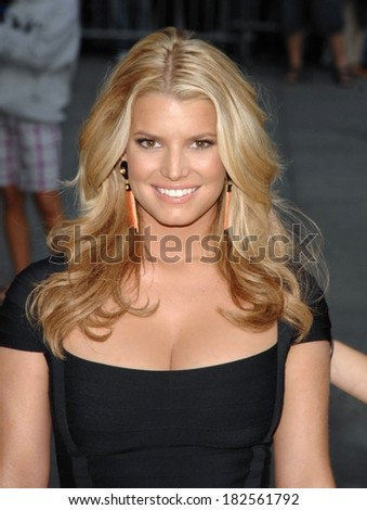 Jessica Simpson at talk show appearance for The Late Show with David Letterman, Ed Sullivan Theater, New York, NY, September 11, 2008 - stock photo