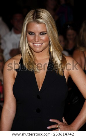 Jessica Simpson at the Operation Smile's 8th Annual Smile Gala held at the Beverly Hilton Hotel in Beverly Hills, California, United States on October 2, 2009. - stock photo