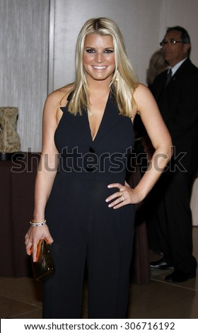 Jessica Simpson at the Operation Smile's 8th Annual Smile Gala held at the Beverly Hilton Hotel in Beverly Hills, USA on October 2, 2009. - stock photo