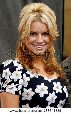 Jessica Simpson attends the Blockbuster Total Access Launch held at the Kodak Theatre in Hollywood, California, on November 2, 2006. - stock photo