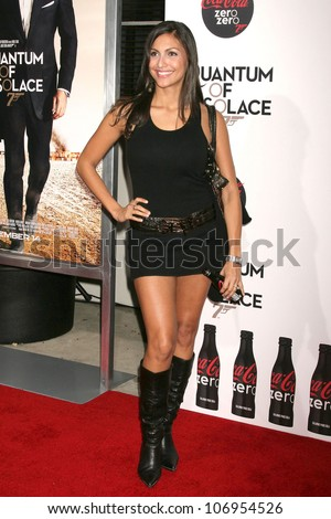 Jessie Camacho  at a Special Screening of 'Quantum of Solace'. Sony Pictures, Culver City, CA. 11-13-08 - stock photo