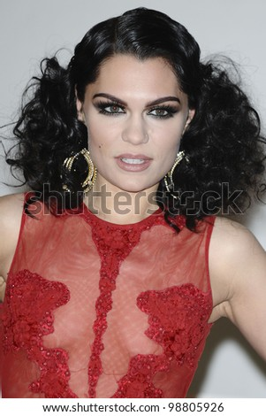 Jessie J arriving for the Brit Awards 2012 at the O2 arena, Greenwich, London. 21/02/2012 Picture by: Steve Vas / Featureflash - stock photo