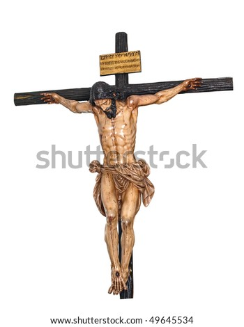 Jesus christ crucified - stock photo