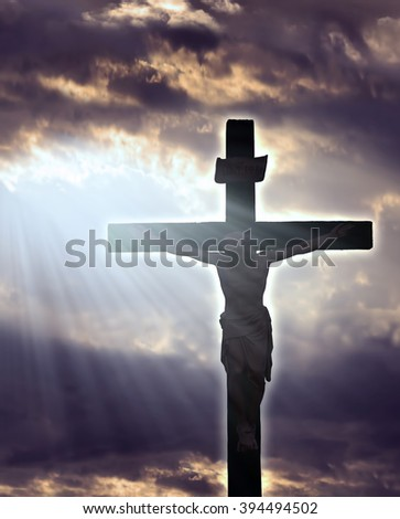 Jesus Christ Crucifixtion - stock photo
