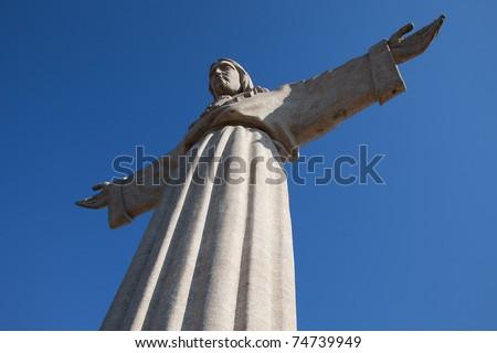 "Jesus Christ monument ""Cristo-Rei"" in Lisbon, Portugal - stock photo"