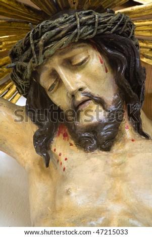 Jesus Christ on the cross - stock photo