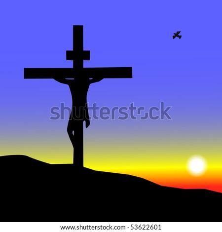 Jesus Cross. EPS available on my portfolio. - stock photo