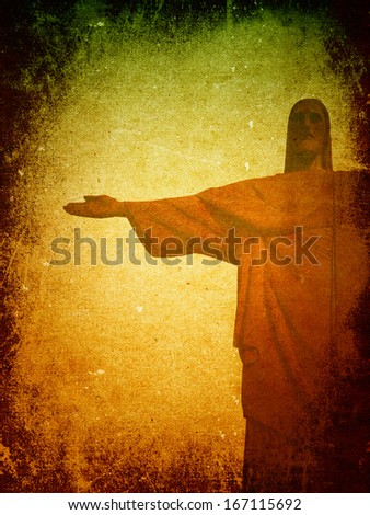 Jesus  grunge background - stock photo