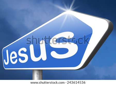 Jesus leading way to the lord faith in savior worship christ spirit search belief in prayer christian Christianity  - stock photo