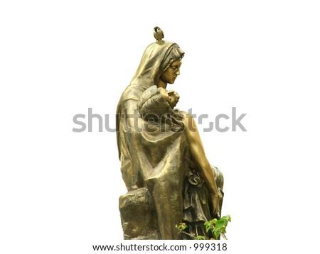 Jesus & Mother Mary - stock photo