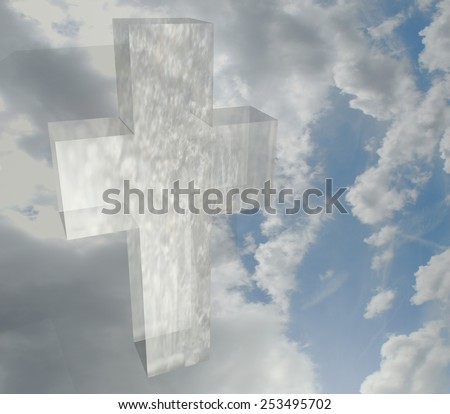 Jesus on the Cross represents Jesus Crucifixion on Good Friday  - stock photo