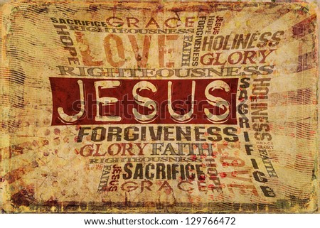 Jesus Religious Background - stock photo