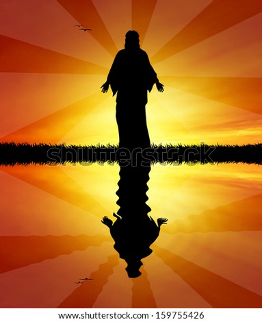 Jesus st sunset - stock photo