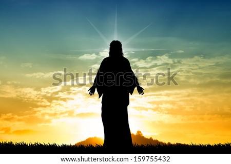 Jesus st sunset - stock photo