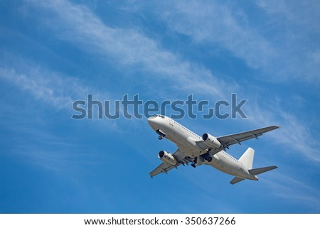 jet airplane takeoff in  sky